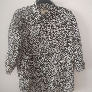Burberry London Size 8 Animal Print Blouse